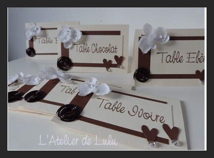Marque table original l 39 atelier de lulu - Nom de table mariage original ...