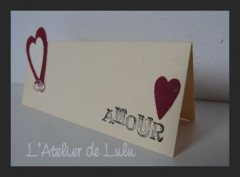 Marque place « Amour »