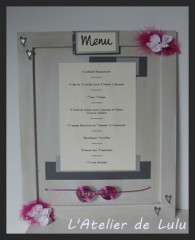 Grand Menu « plumes et orchidees »