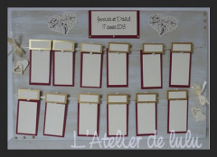 plan de table mariage « I love you »